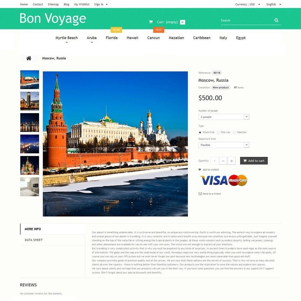 theme - Deportes, Actividades y Viajes - Bon Voyage - Travel Agency - 3