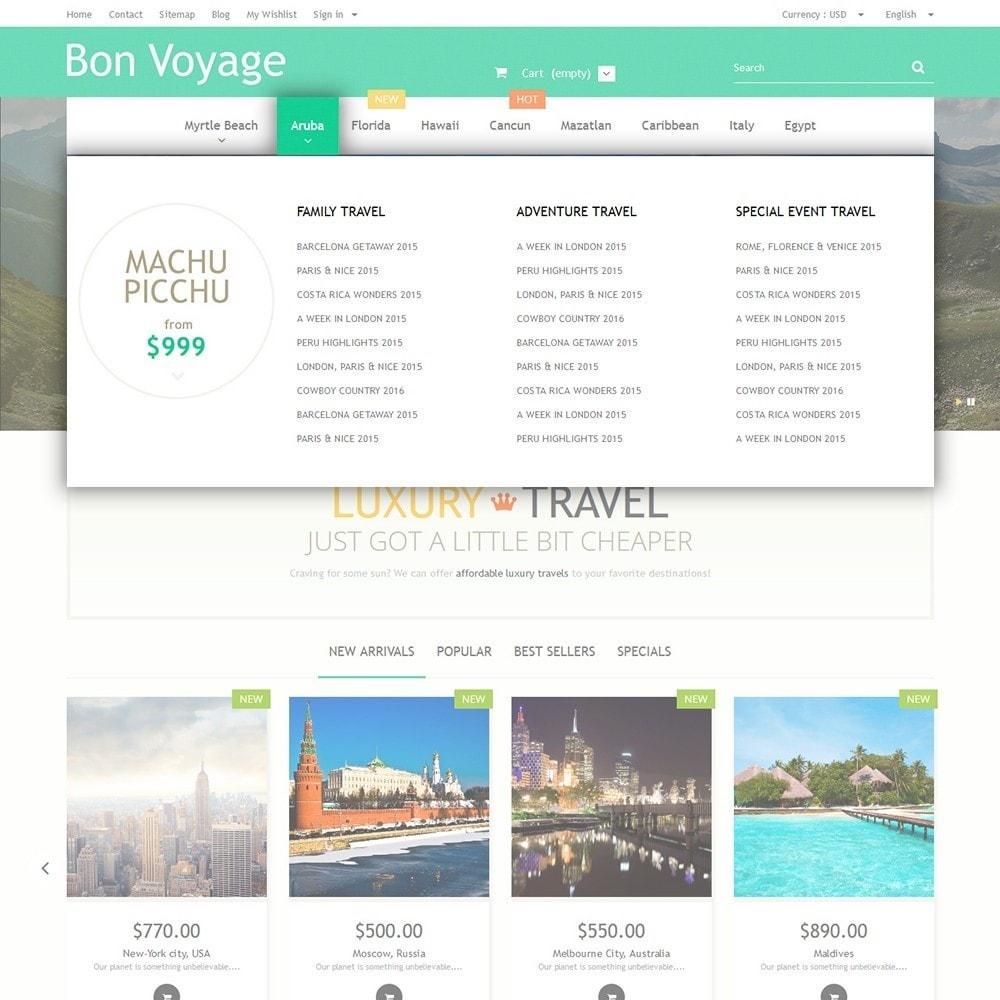 theme - Deportes, Actividades y Viajes - Bon Voyage - Travel Agency - 5