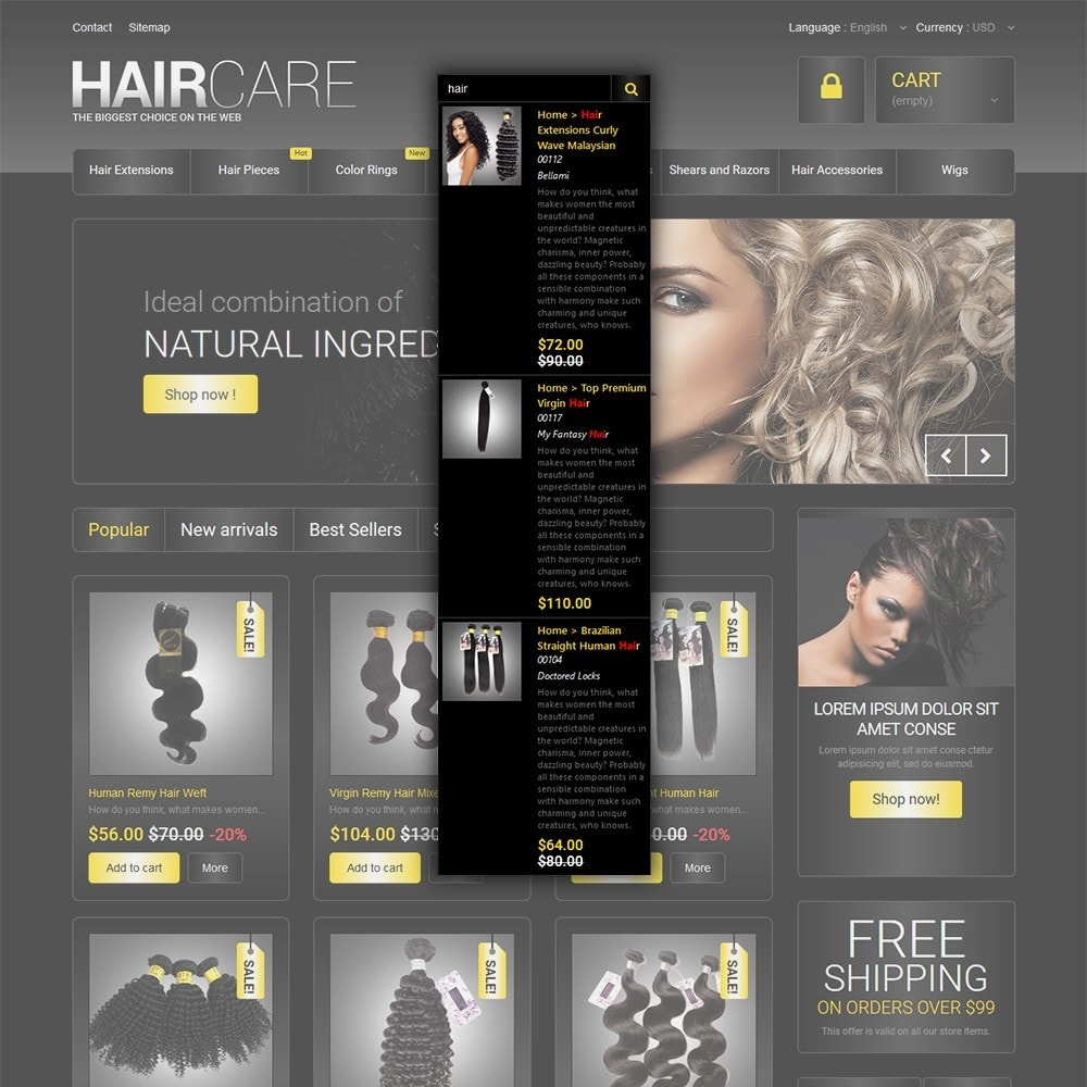 theme - Moda & Calçados - HairCare - The Biggest Choice On The Web - 6