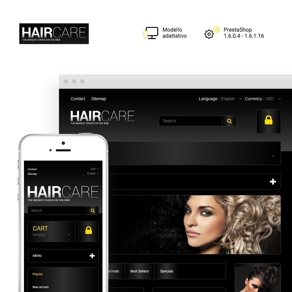 theme - Moda & Calzature - HairCare - The Biggest Choice On The Web - 1