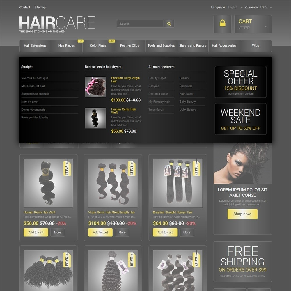 theme - Moda & Calzature - HairCare - The Biggest Choice On The Web - 5