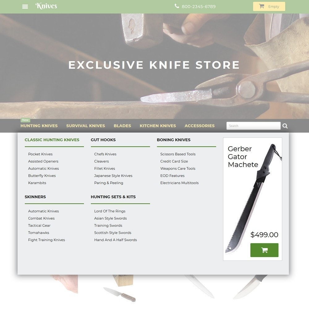 theme - Искусство и Культура - Knives - Housewares Store - 4