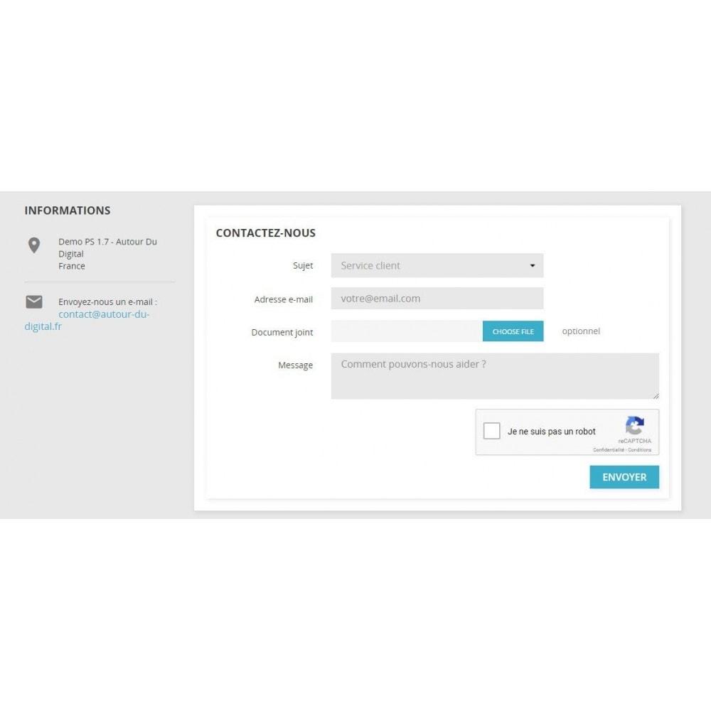 module - Sécurité & Accès - Google reCAPTCHA - Anti-spam : Contact & inscription - 1