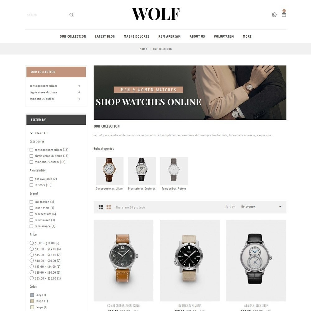 theme - Electronics & Computers - Wolf Watch Store - 4