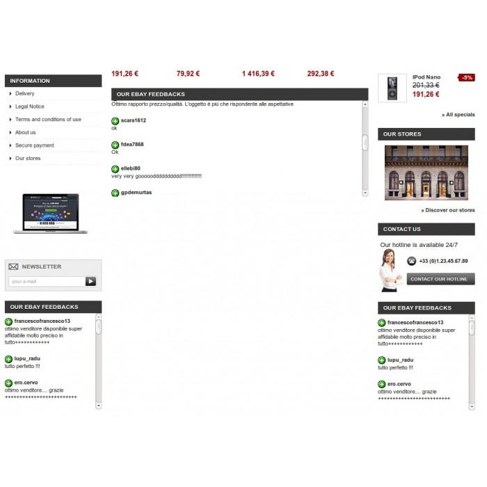 module - Opinie klientów - Ebay FeedBox - 1