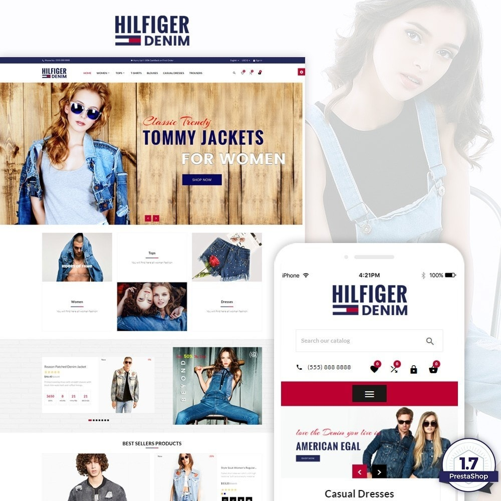 theme - Fashion & Shoes - Hilfiger Denim Fashion Brand Store - 1