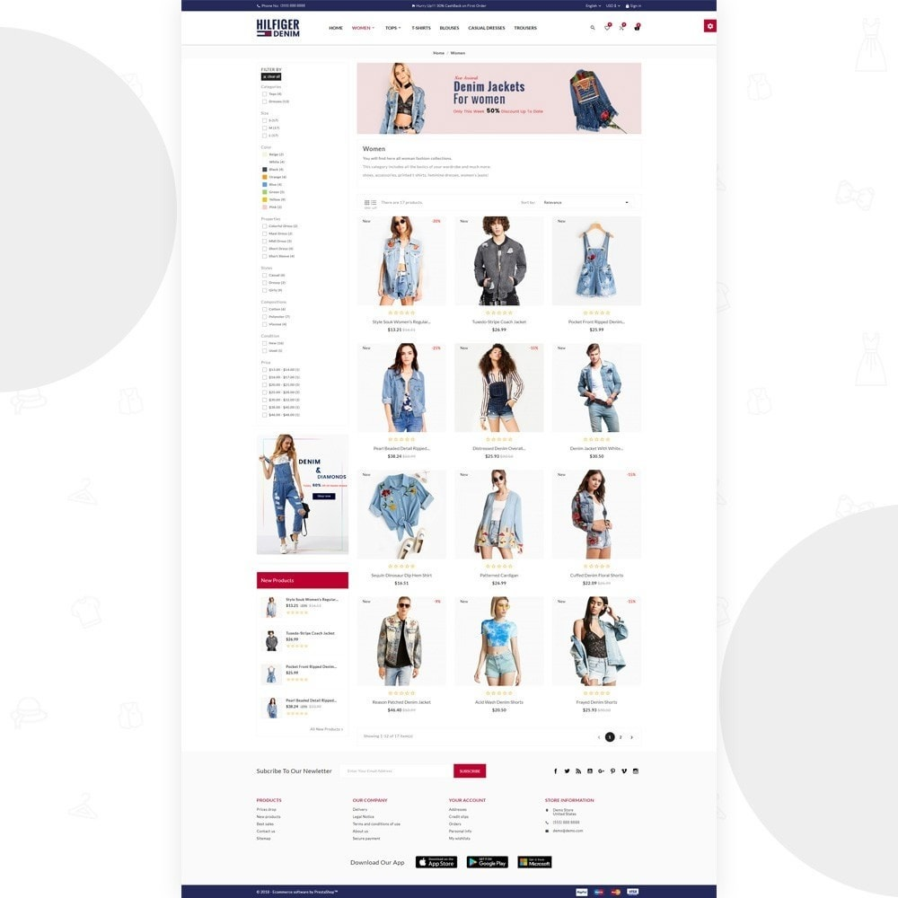 theme - Fashion & Shoes - Hilfiger Denim Fashion Brand Store - 4
