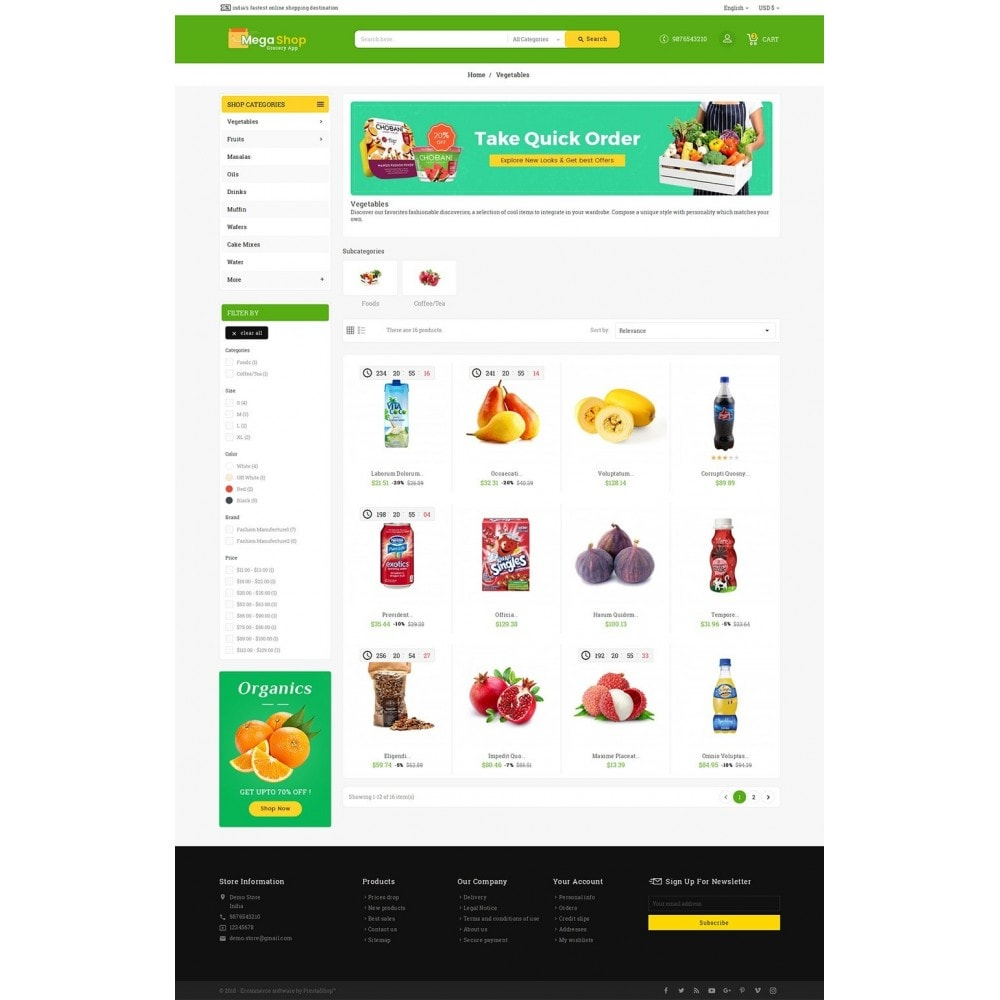 theme - Alimentos & Restaurantes - Mega Grocery Shop - 3