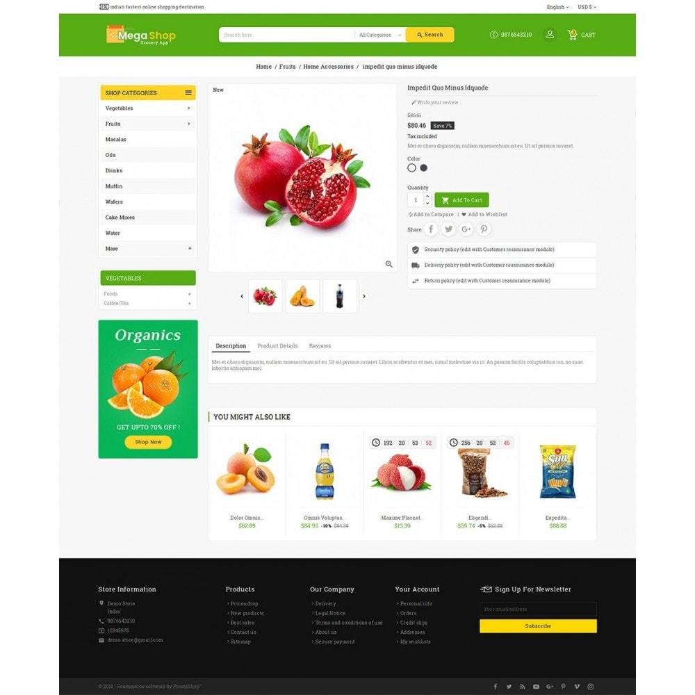 theme - Alimentos & Restaurantes - Mega Grocery Shop - 5