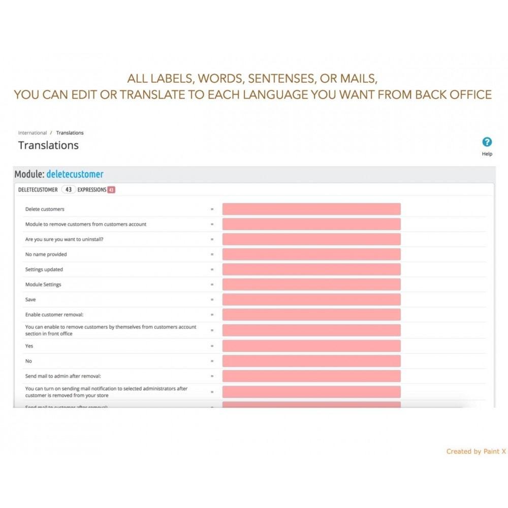 module - Rechtssicherheit - GDPR Löschen vom Benutzerkonto mit erweiterten Optionen - 8