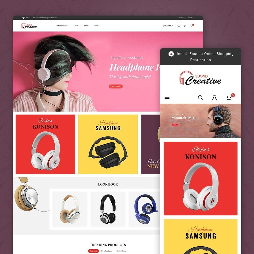 theme - Electronics & Computers - Headphone & Speakers - 1
