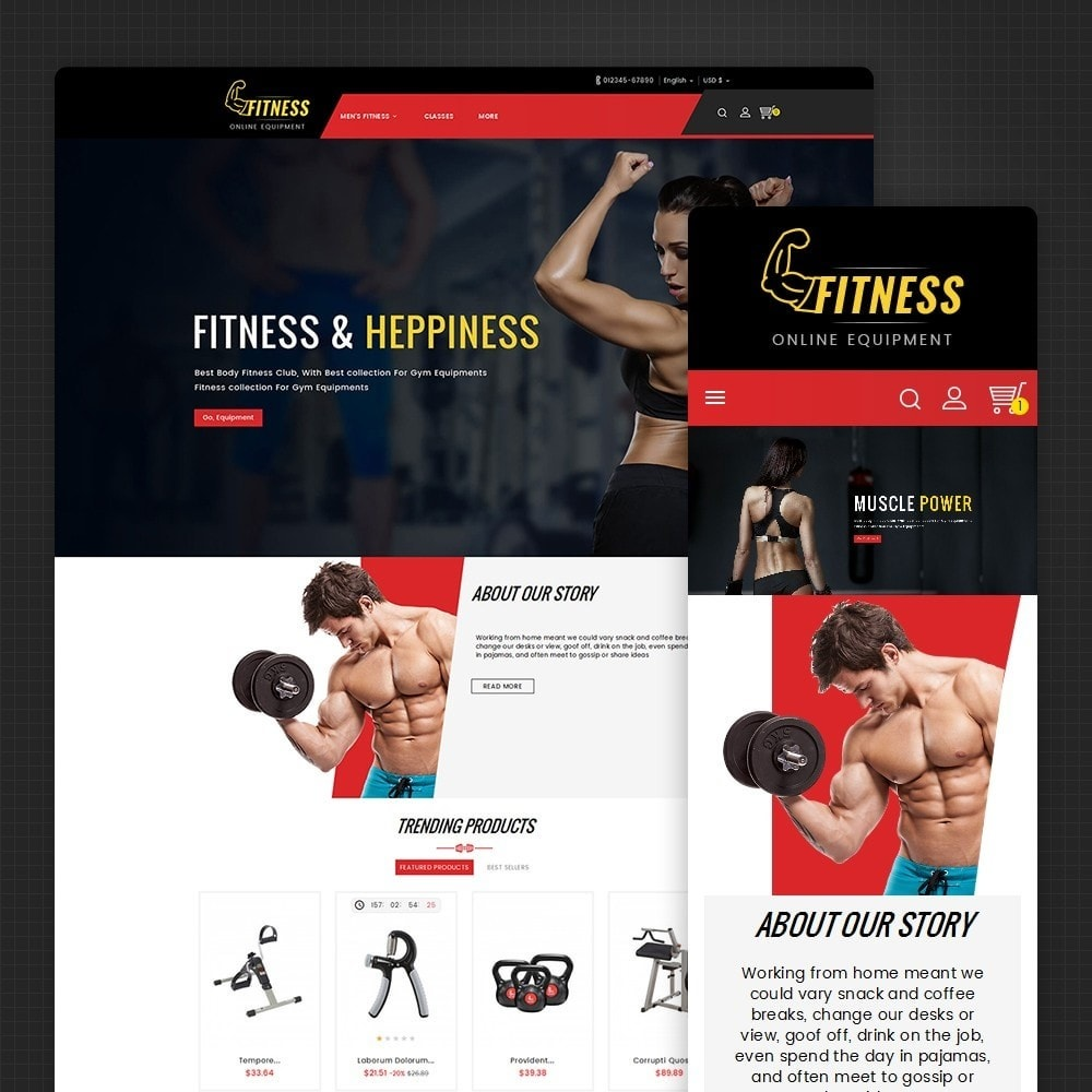 theme - Sports, Activities & Travel - Fitness Equipment - 1