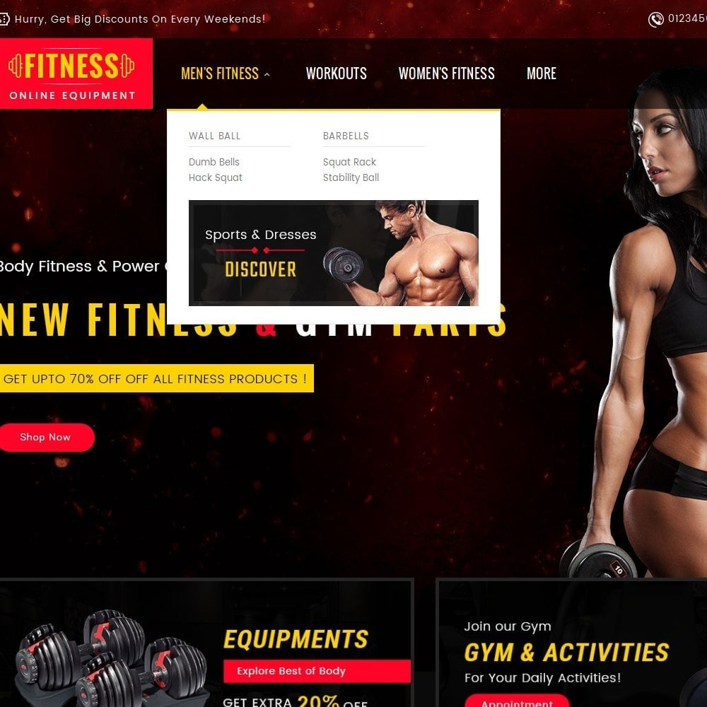 theme - Sports, Activities & Travel - Gym & Fitness - 8