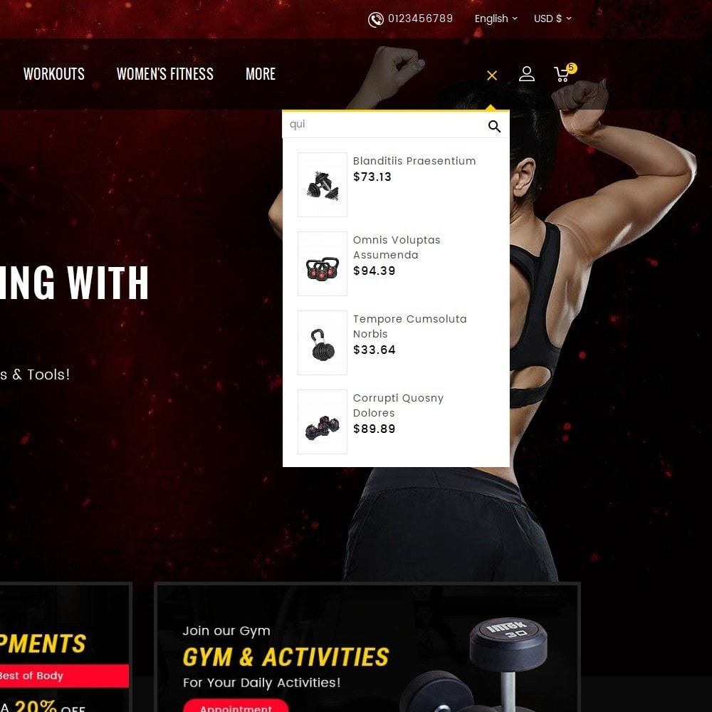 theme - Desporto, Actividades & Viagens - Gym & Fitness - 9