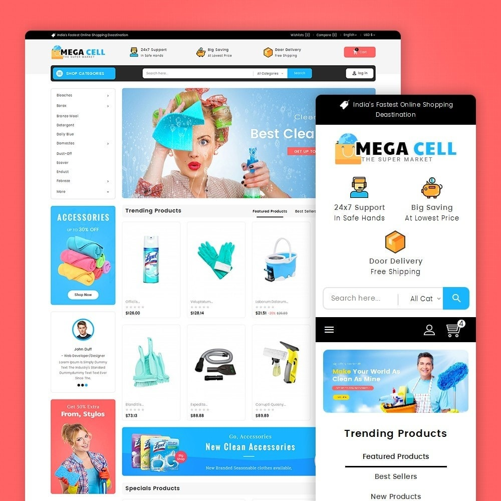 theme - Home & Garden - Mega Cell Cleaner Market - 1