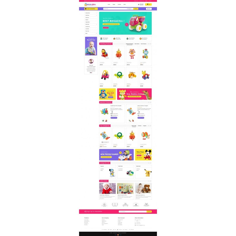 theme - Kids & Toys - Mega Cell Kid Toys - 2