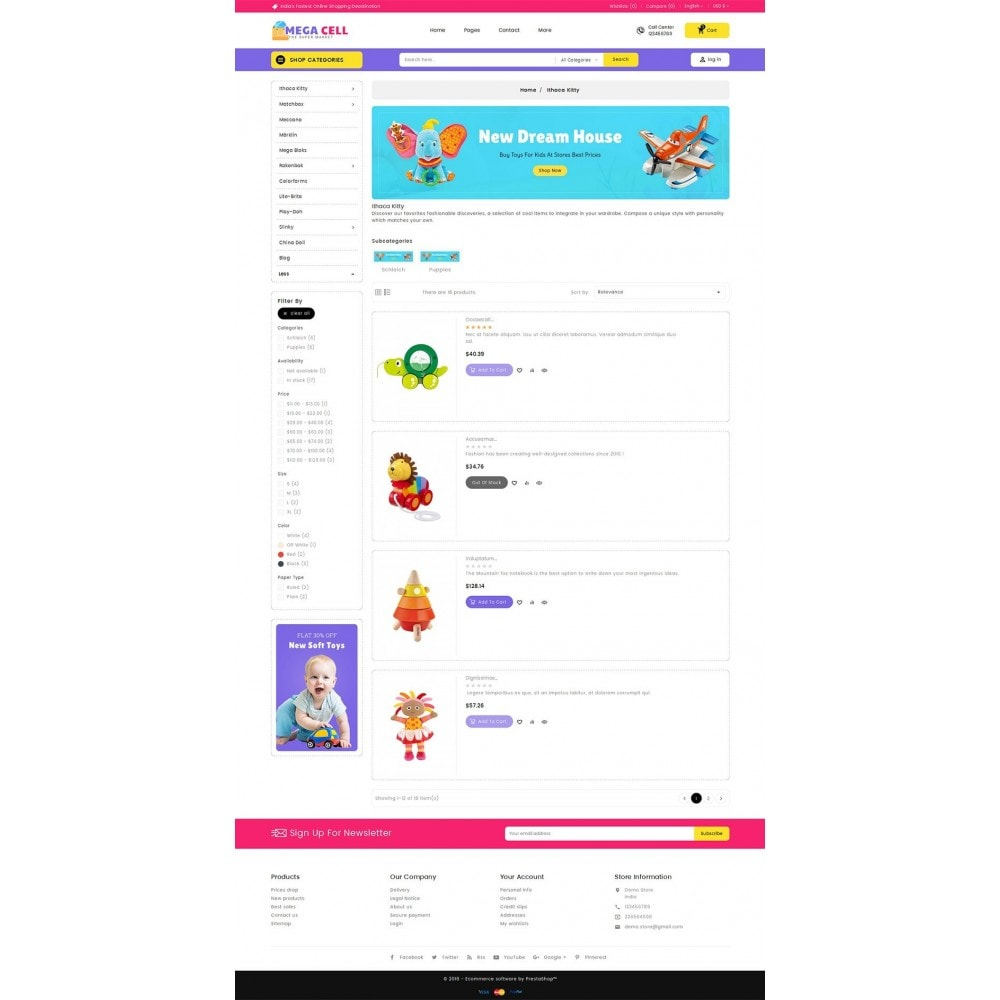theme - Zabawki & Artykuły dziecięce - Mega Cell Kid Toys - 4