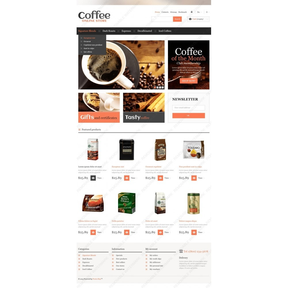 theme - Food & Restaurant - Responsive Coffee Store - 4