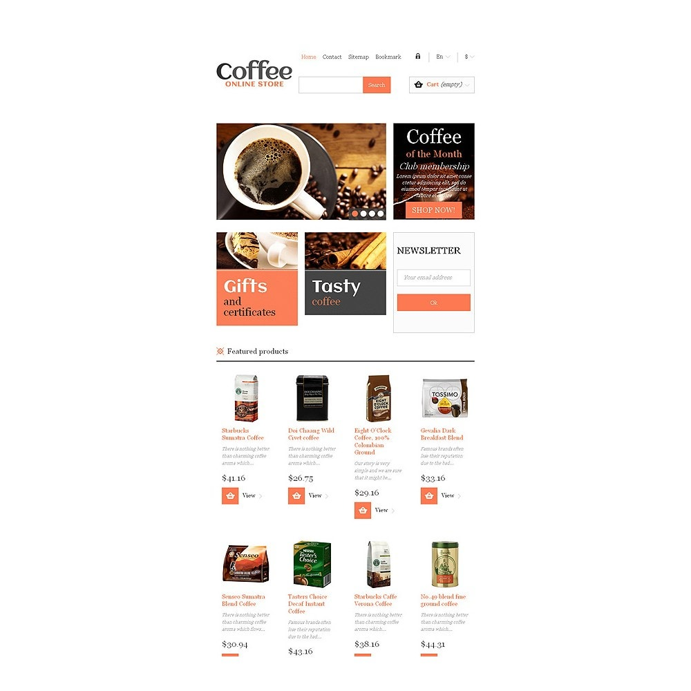 theme - Food & Restaurant - Responsive Coffee Store - 8