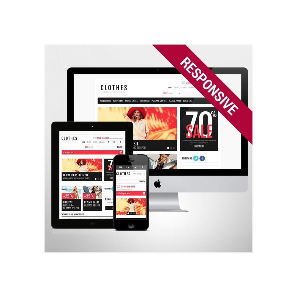 theme - Moda y Calzado - Responsive Clothing Shop - 1