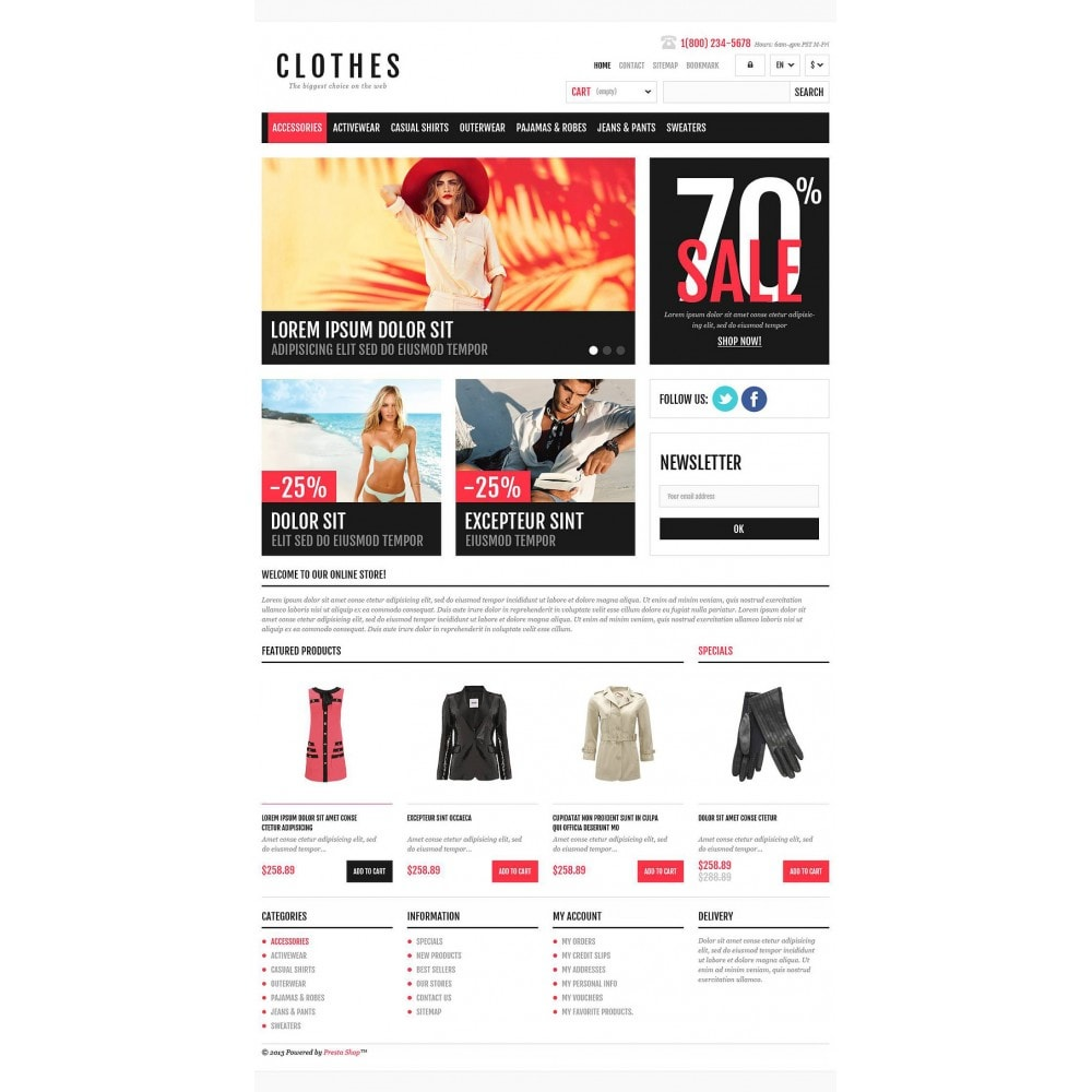 theme - Mode & Chaussures - Responsive Clothing Shop - 2