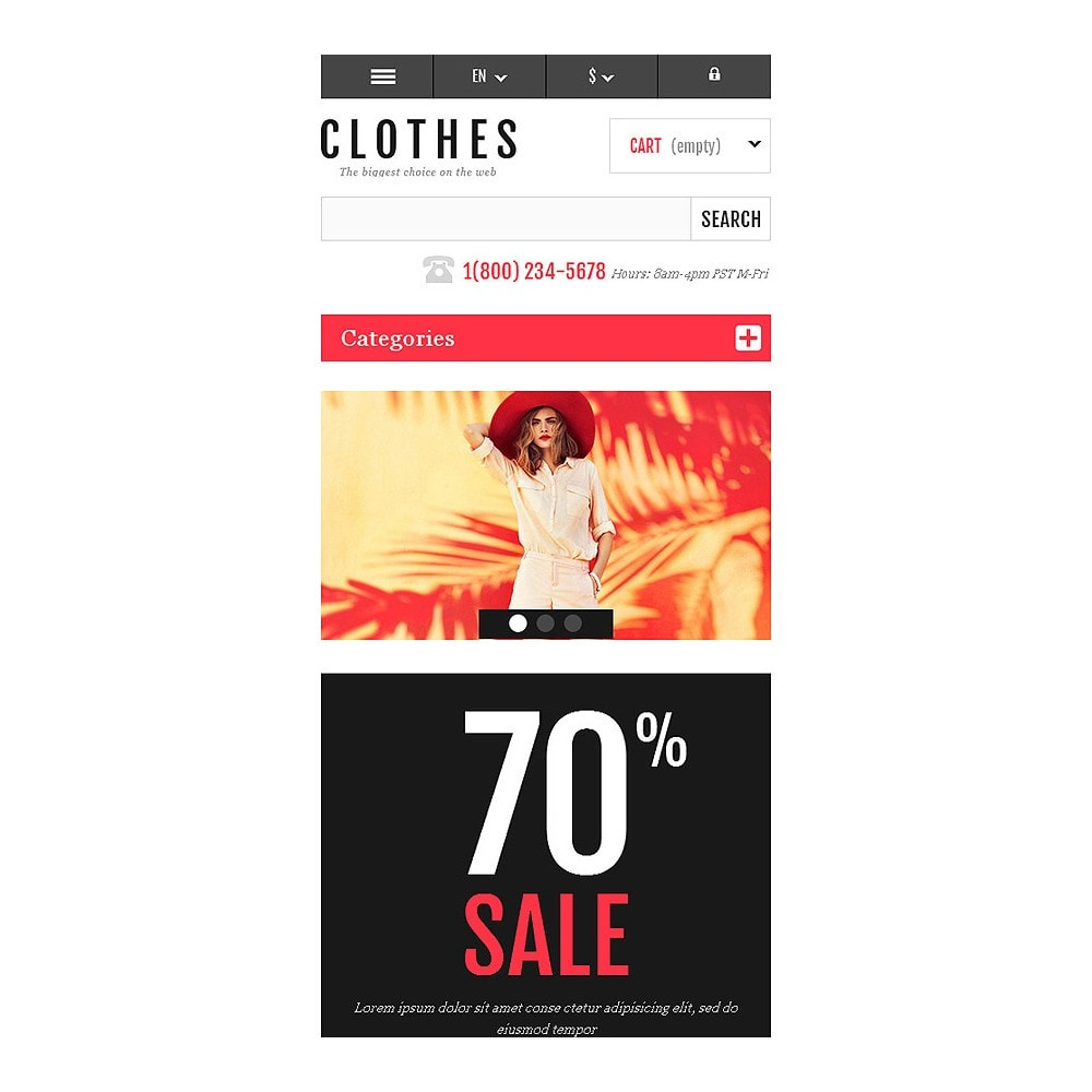theme - Mode & Chaussures - Responsive Clothing Shop - 8