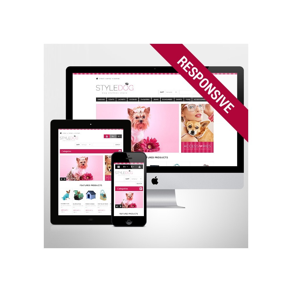 theme - Animaux - Responsive Dog Style Store - 1