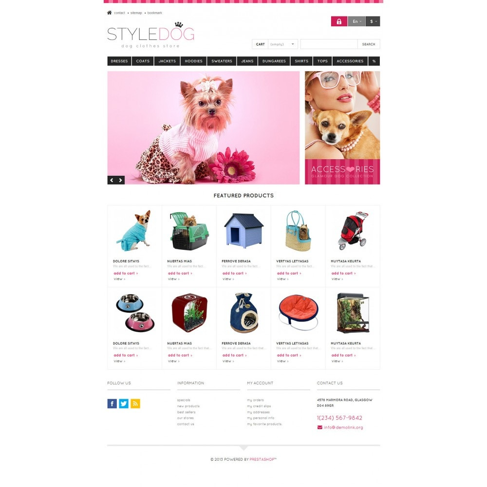 Responsive Dog Style Store Template
