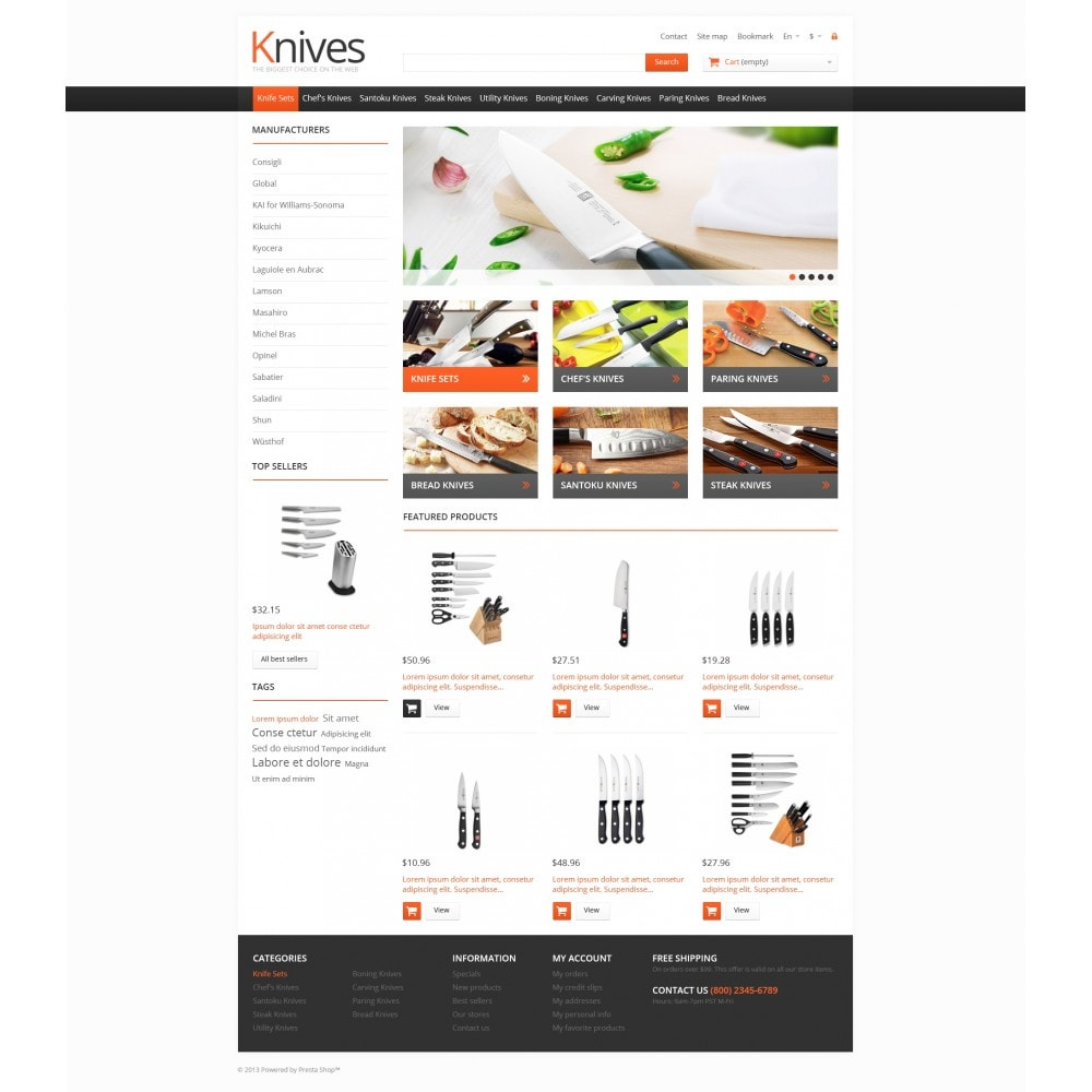 theme - Arte & Cultura - Knives for Easy Cooking - 4