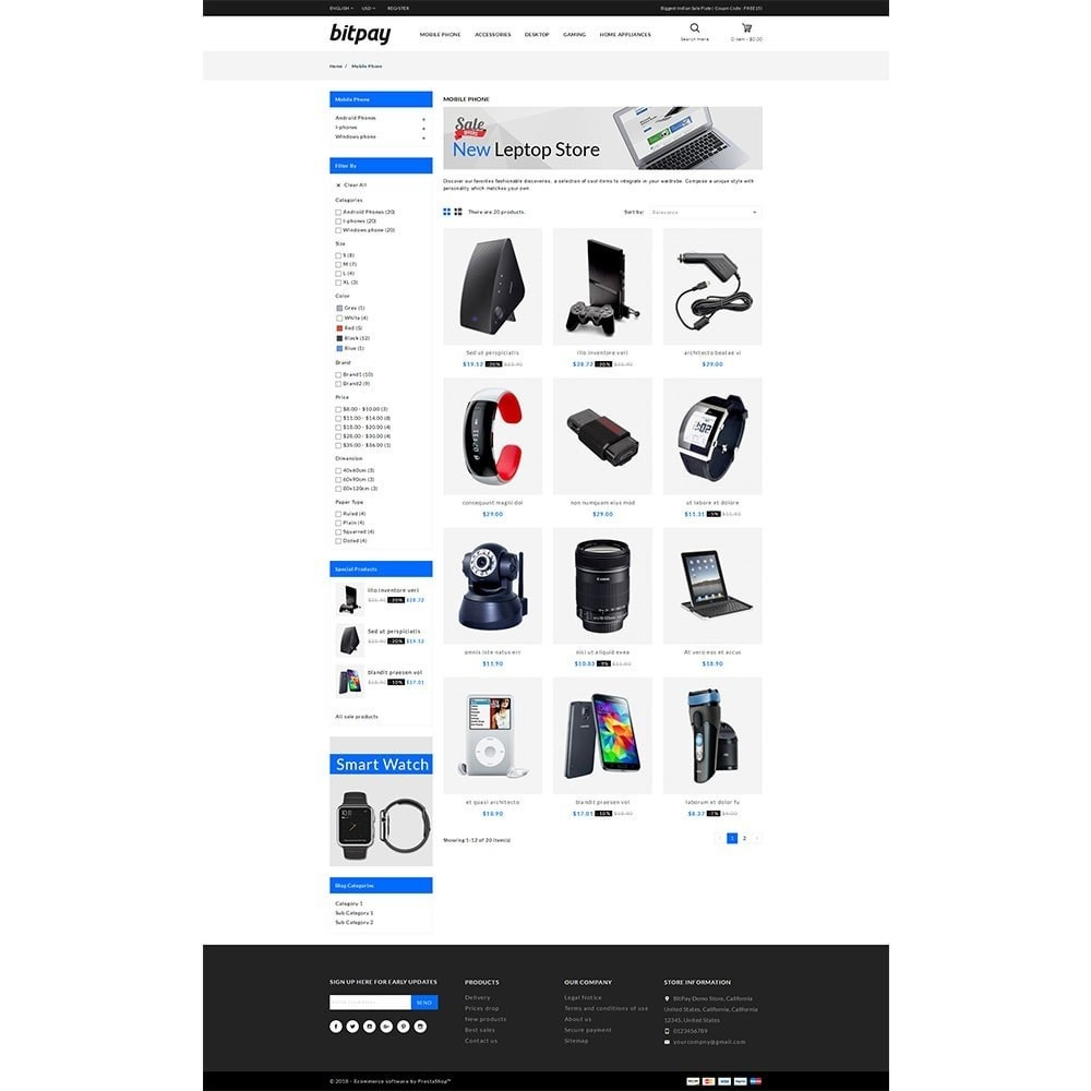 theme - Elektronika & High Tech - Bitpay Electronics Store - 3