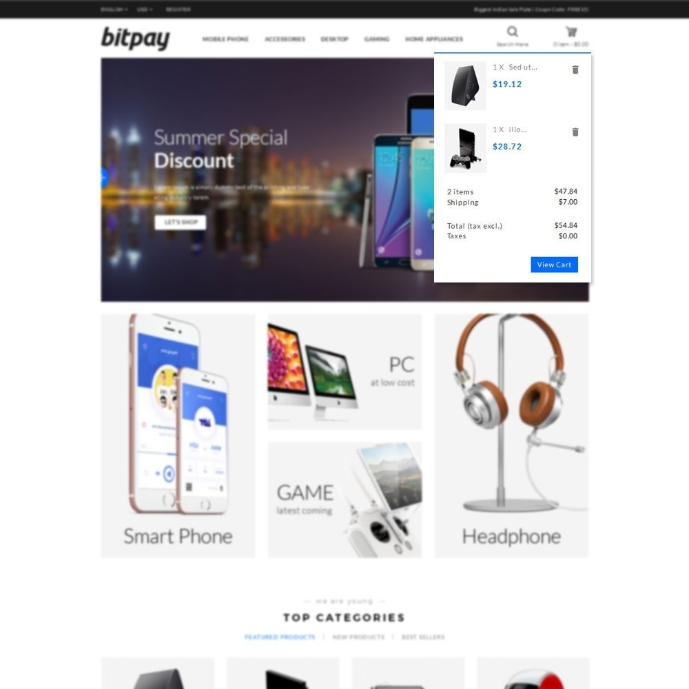 theme - Elektronica & High Tech - Bitpay Electronics Store - 7