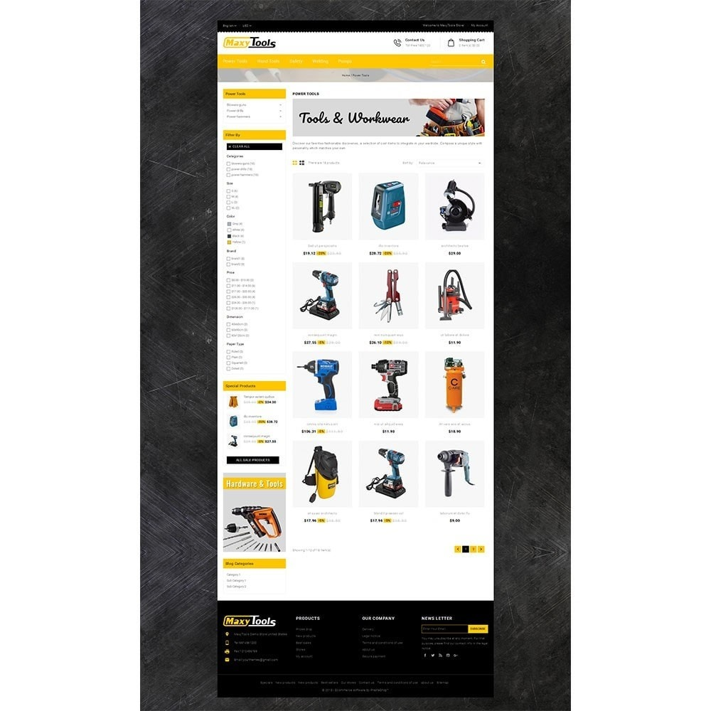 theme - Automotive & Cars - MaxyTool Store - 3