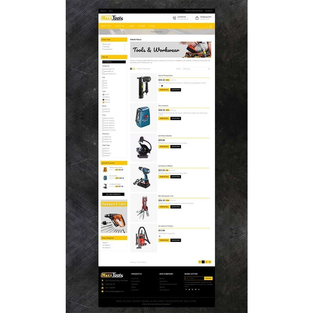 theme - Automotive & Cars - MaxyTool Store - 4
