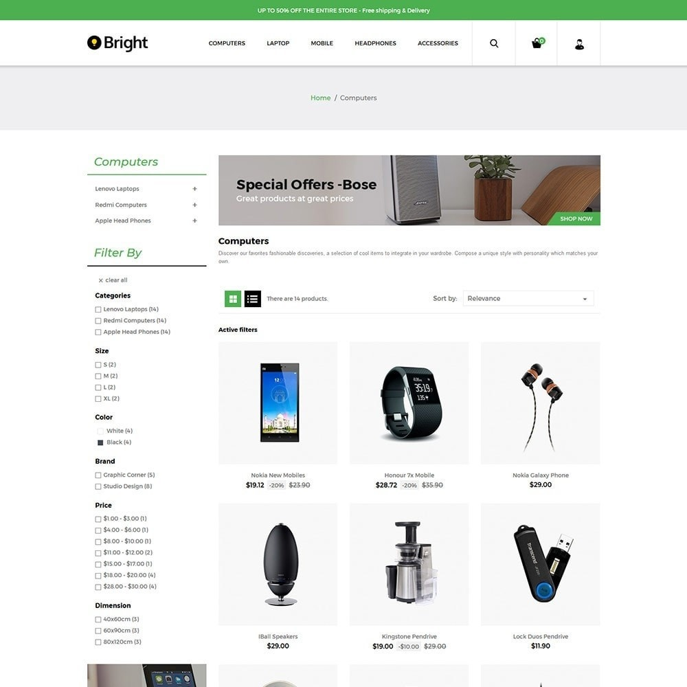 theme - Электроника и компьютеры - Bright Electronics Store - 3