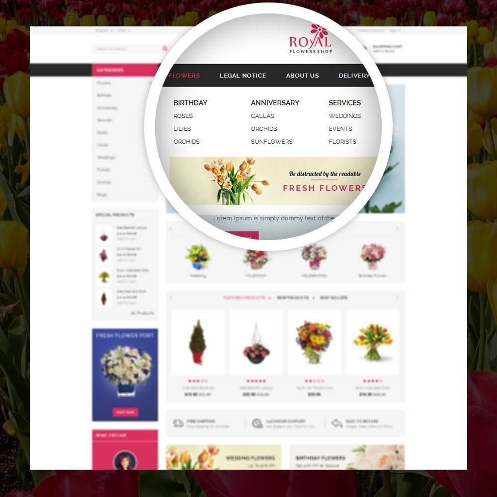 theme - Gifts, Flowers & Celebrations - Royal - Flower Store - 7