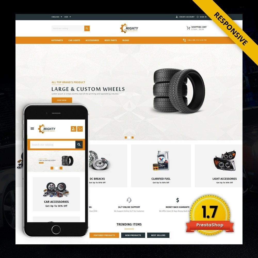 theme - Auto's & Motoren - Mighty - Autoparts Shop - 1