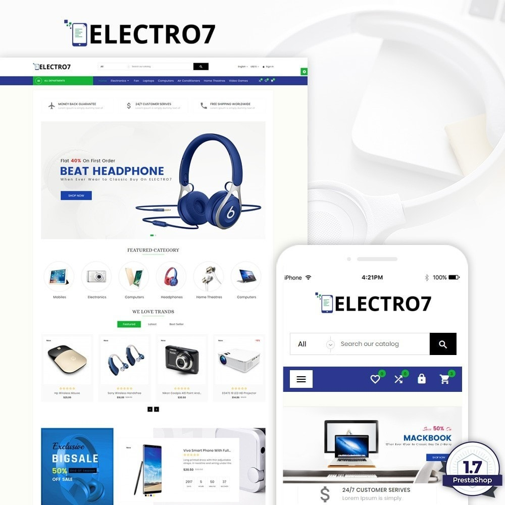 theme - Электроника и компьютеры - Electro7 – Electronic and Big Super Store - 1