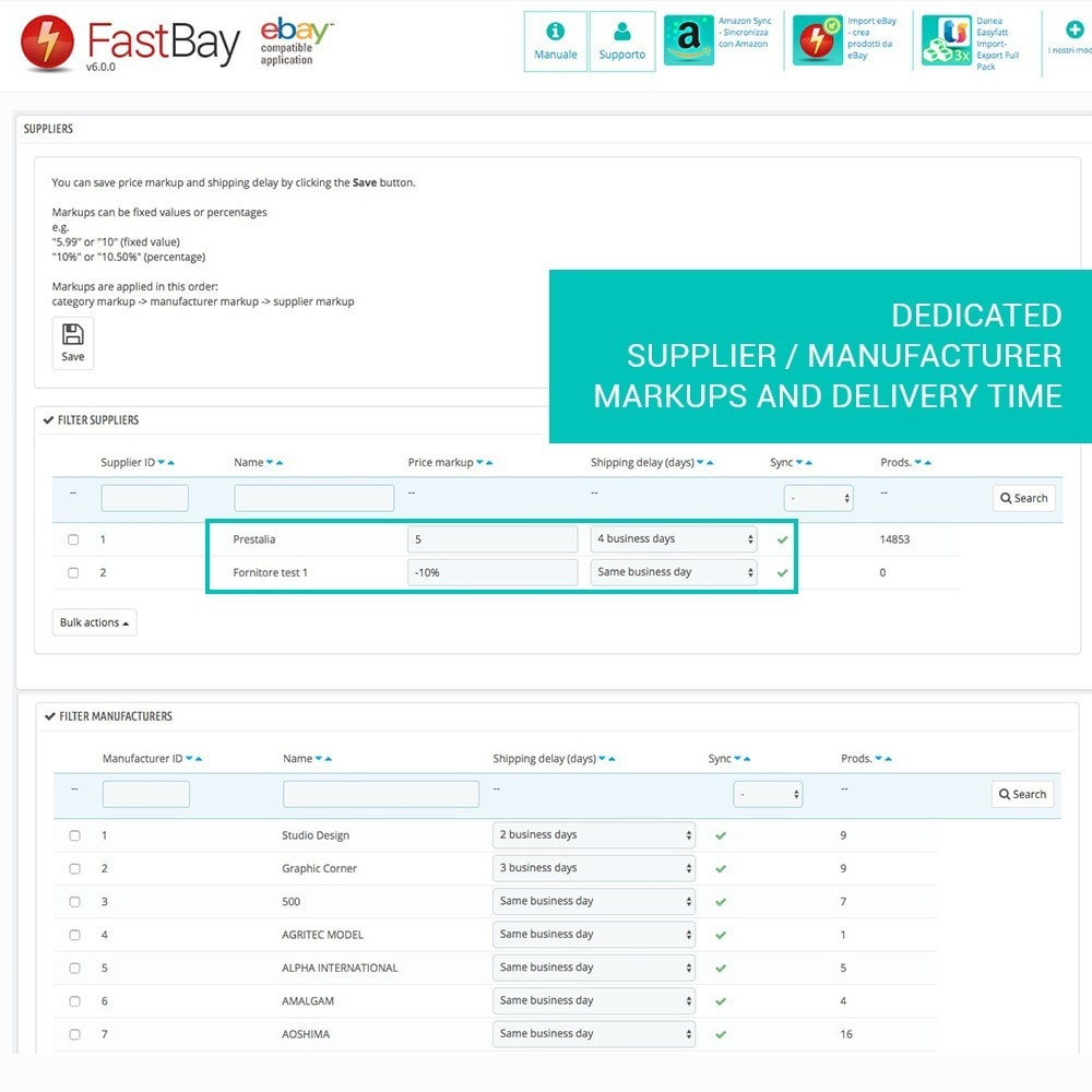module - Marketplaces - FastBay - eBay Marketplace synchronisation - 10