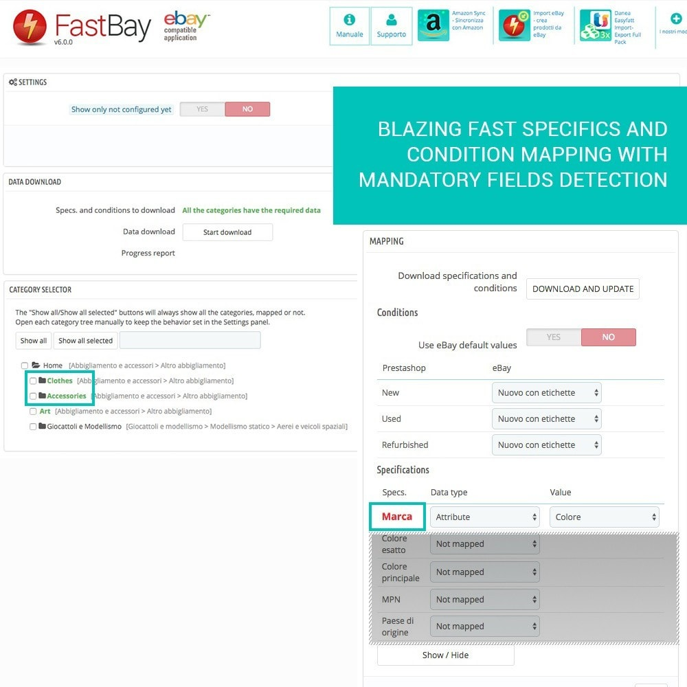 module - Marketplaces - FastBay - eBay Marketplace synchronization - 9