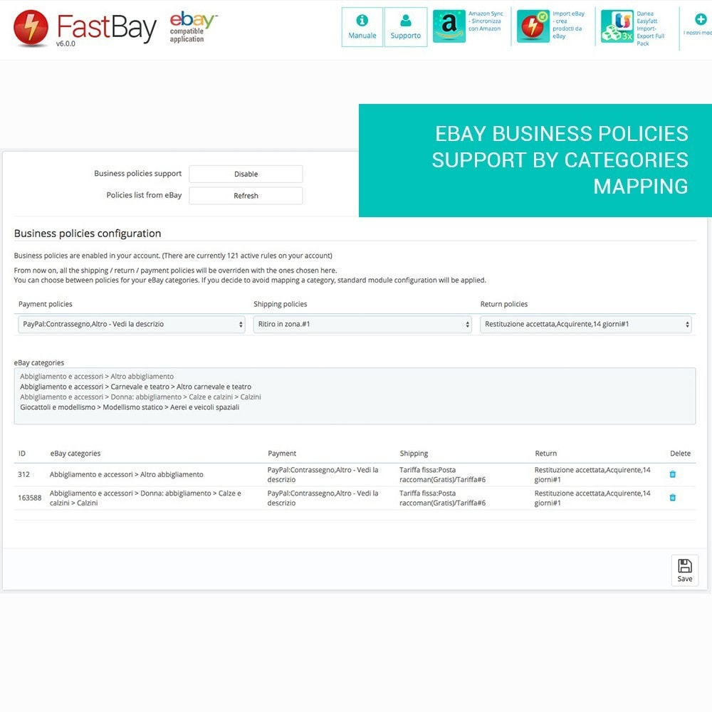 module - Revenda (marketplace) - FastBay - eBay Marketplace synchronization - 13