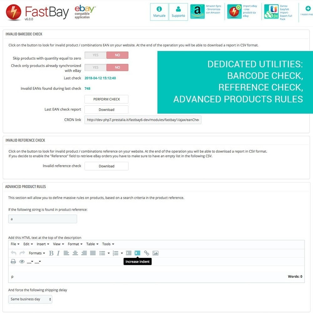 module - Marketplaces - FastBay - eBay Marketplace synchronization - 14