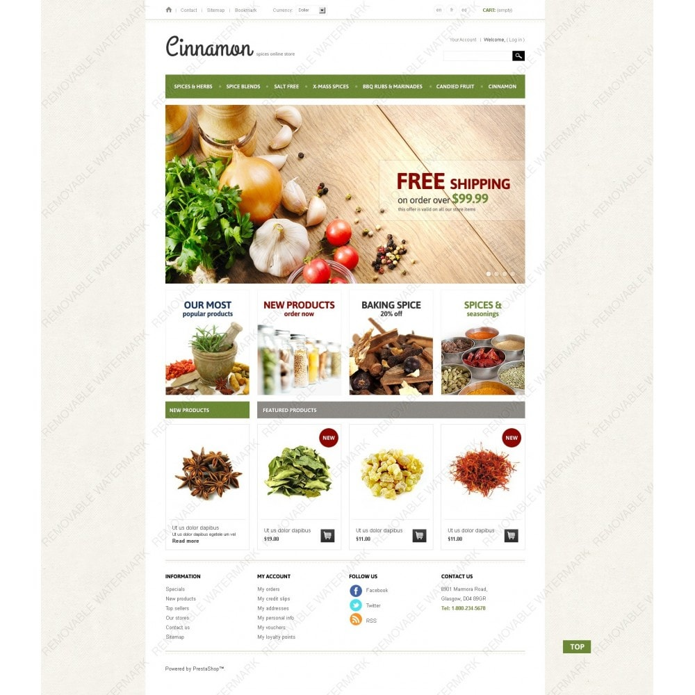 theme - Alimentation & Restauration - Spices & Herbs - 7