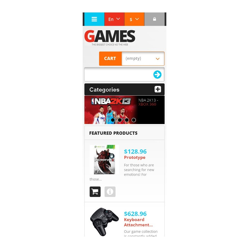 theme - Kinder & Spielzeug - Responsive Games Store - 3