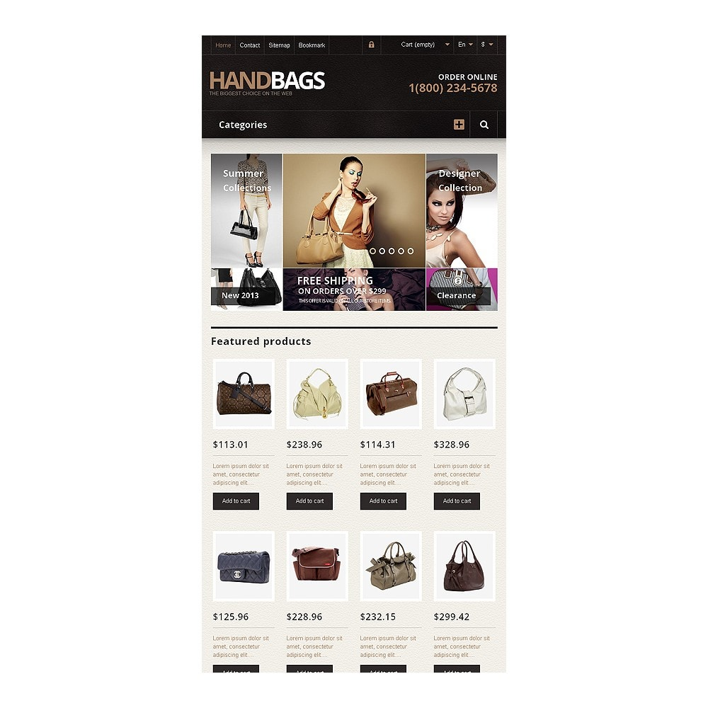 theme - Mode & Chaussures - Responsive Handbags Store - 7