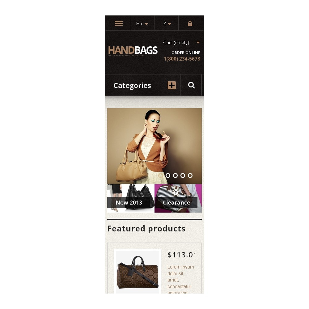 theme - Mode & Chaussures - Responsive Handbags Store - 9