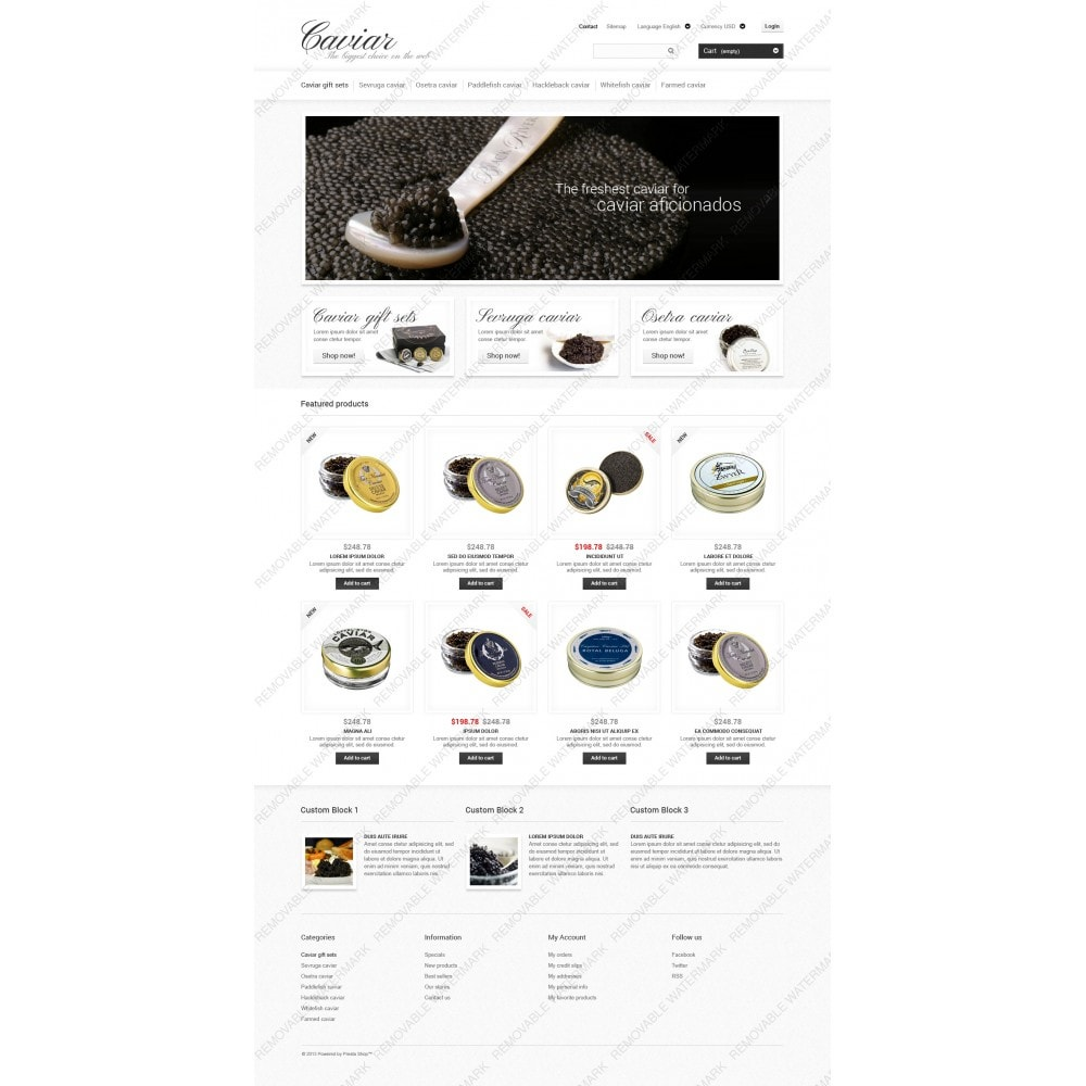 Caviar Online Store
