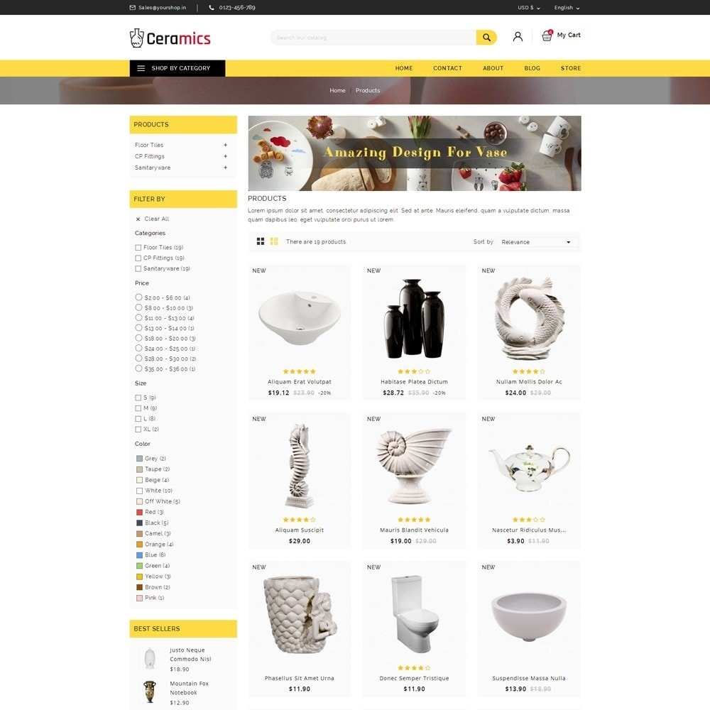 theme - Arte y Cultura - Ceramic Art Store - 3