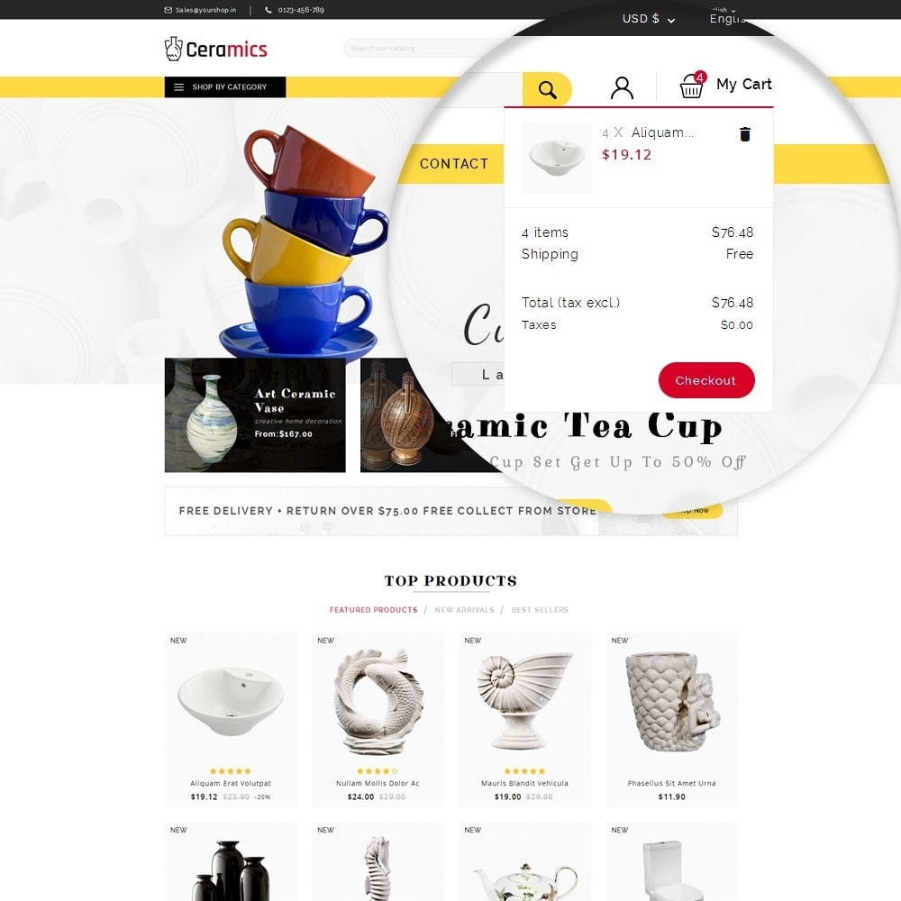 theme - Arte y Cultura - Ceramic Art Store - 10