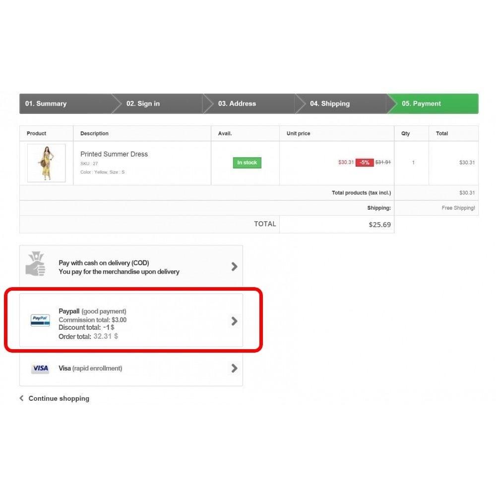 module - Autres moyens de paiement - Coutume mode de paiement - 4