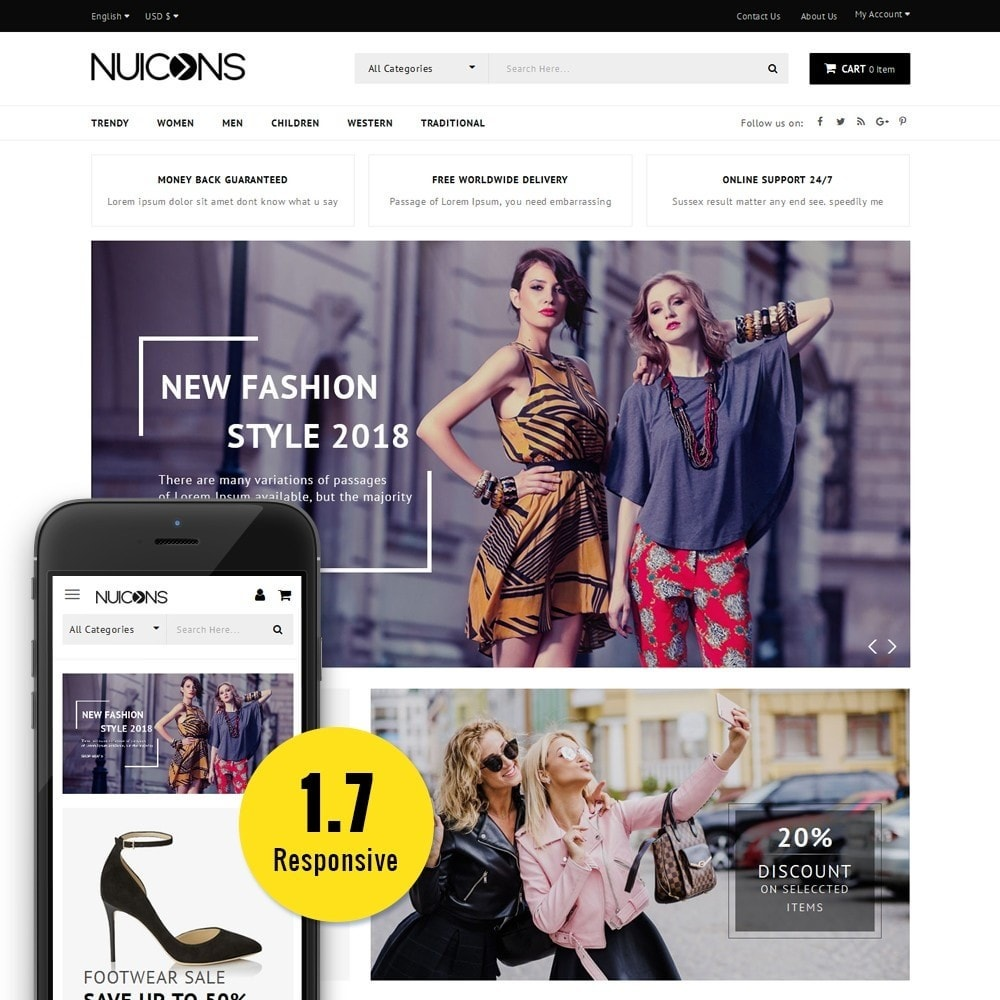theme - Fashion & Shoes - Nuicons Fashion Store - 1